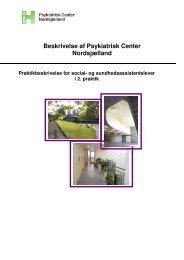 Beskrivelse af Psykiatrisk Center Nordsjælland - Region ...