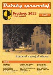 Dubský zpravodaj 12/2011 - Město Dubí