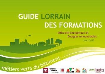 Guide lorrain des formations initiales et continues sur l ... - LQE