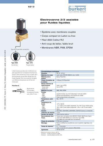 type 6213 ev 6281 ev b 252 rkert fluid systems