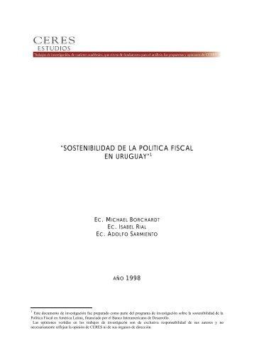 003 Sostenibilidad de la Politica Fiscal en Uruguay - Ceres