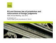 Enforcement of foreign judgments in the EU and Germany