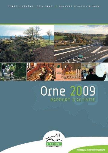 Rapport d'activité 2009 - Conseil Général de l'Orne