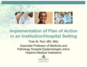 Implementation of Plan of Action in an Institution/Hospital Setting