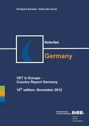 ReferNet VET in Europe - Country Report Germany 10 edition ... - BiBB