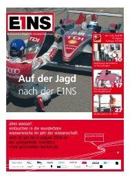 Auf der Jagd nach der E1NS - E1NS-Magazin
