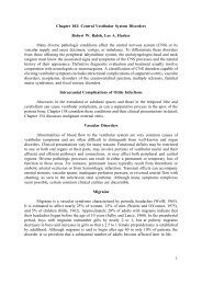 1 Chapter 182: Central Vestibular System Disorders ... - Famona Site