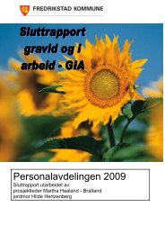Sluttrapport for prosjekt Gravi og i arbeid- GIA - Fredrikstad kommune