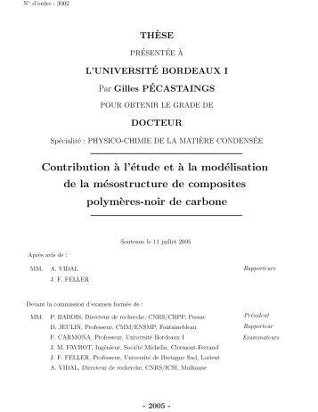 Contribution `a l'étude et `a la modélisation de la mésostructure de ...