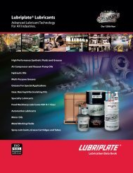 Lubriplate® Lubricants - Houston Bearing and Supply