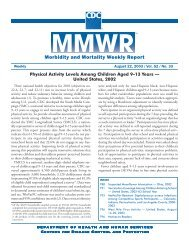 Morbidity and Mortality Weekly Report - Centers for Disease Control ...