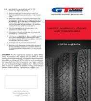 GT Radial Warranty Claim