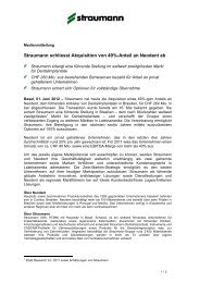 Medienmitteilung (PDF) - Straumann