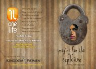 Praying For The Exploited Prayer Guide - OneLifeMatters.org