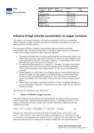 Influence of high chloride concentration on copper corrosion - SKB
