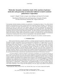 Molecular dynamics simulation study of the ejection of polymer ...