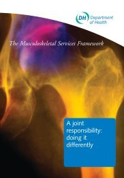 The Musculoskeletal Services Framework - North Wales Spine Clinic
