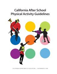 CA After School Physical Activity Guidelines - California Department ...
