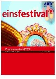 Programmwoche 41/2012 - Das Programm der ARD