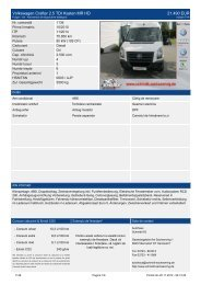 Volkswagen Crafter 2.5 TDI Kasten MR HD 21.490 EUR