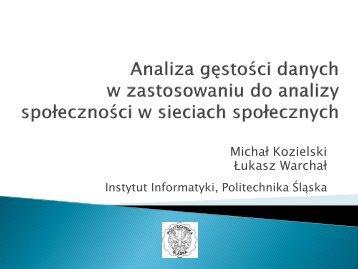 Slajd 1 - Instytut Informatyki