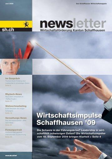 Ausgabe 2 -  Juni 2009 (7.5 MB) - Wirtschaftsförderung Kanton ...