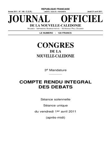 journal officiel de la nouvelle-caledonie