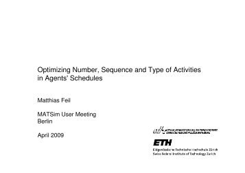 Optimizing Number, Sequence and Type of Activities in Agents ... - IVT
