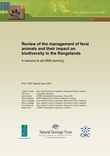 Review of the management of feral animals and their impact on ...