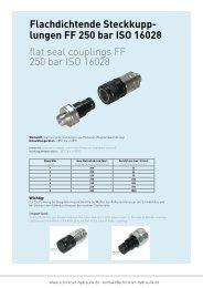 lungen FF 250 bar ISO 16028 - Schmitter Hydraulik GmbH
