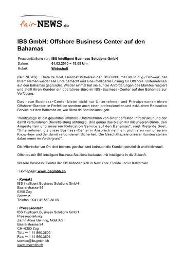 IBS GmbH: Offshore Business Center auf den Bahamas