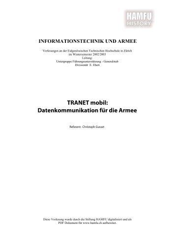 TRANET mobil _ Mobile Datenkommunikation für ... - Stiftung HAMFU