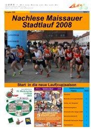 Nachlese Maissauer Stadtlauf 2008 zum Download - Lurs