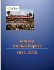 Library Annual Report - La Sierra University