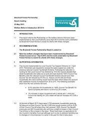 Welfare Reform Update PDF 102 KB - Bracknell Forest Council