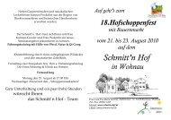 23. August 2010 - Schmitt'n Hof Wohnau