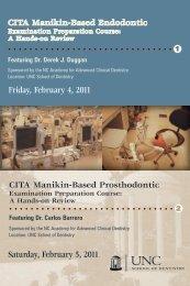 Dr. Derek J. Dug - UNC School of Dentistry - University of North ...