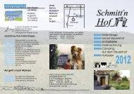 Infoflyer 2012 zum Download - Schmitt'n Hof Wohnau