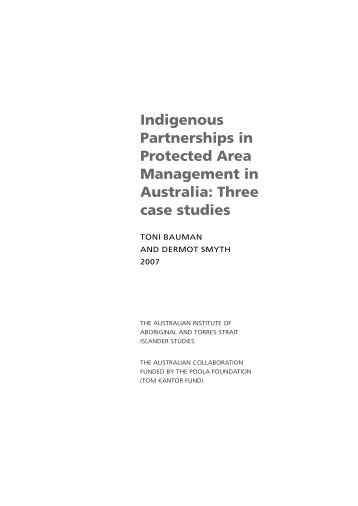 Indigenous Partnerships in Protected Area Management in ... - aiatsis