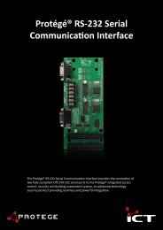 Protege RS-232 Serial Communication Interface Brochure - ICT