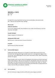 Domarkommittén protokoll 1-2013 - Svenska Kennelklubben