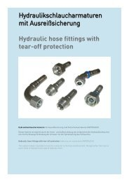 Hydraulic hose fittings with tear-off protection - Schmitter Hydraulik ...