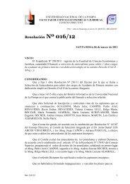 Resolución Nº 016/12 - Facultad de Ciencias Económicas y Jurídicas