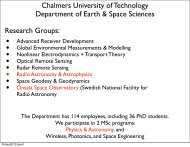 Chalmers University of Technology Department of ... - LOFAR Sweden