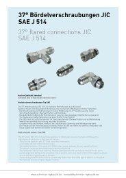 37° Bördelverschraubungen JIC SAE J 514 - Schmitter Hydraulik ...