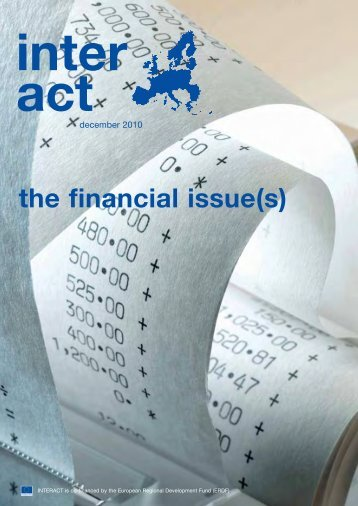 Newsletter INTERACT | Issue 2010-12 | Financial Managemet