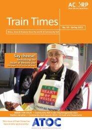 Say cheese! - Association of Community Rail Partnerships - UK.COM