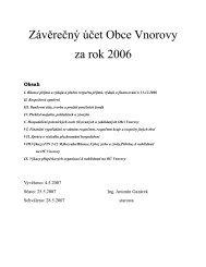 Závěrečný účet obce za rok 2006 (formát pdf ... - Obec Vnorovy