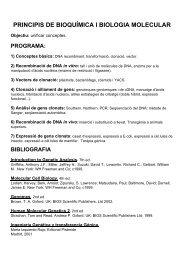 PRINCIPIS DE BIOQUÍMICA I BIOLOGIA MOLECULAR