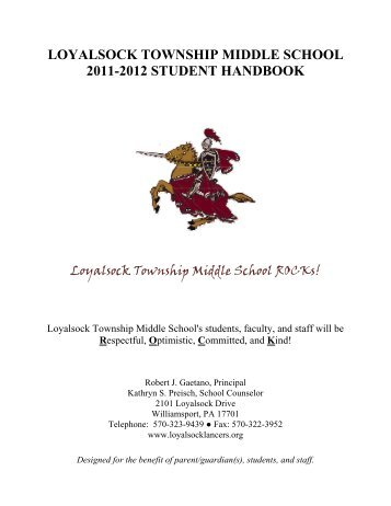 LOYALSOCK TOWNSHIP MIDDLE SCHOOL 2011-2012 STUDENT ...